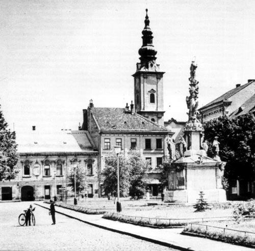 Mariánské náměstí v Uherském Hradišti.