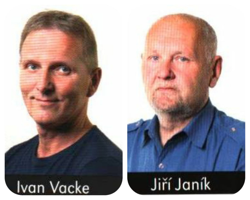 Poděkování Jiřímu Janíkovi a Ivanu Vackemu
