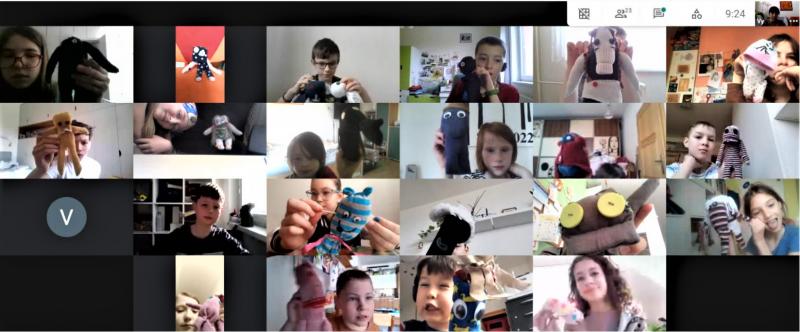 Děti a učitelé pracují s Lichožrouty i ve výtvarné výchově