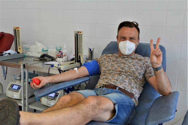 Tomáš Šulaj je dárcem krve už pět let