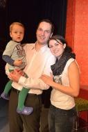 se synem Matějem a manželkou Pavlínou, leden 2015