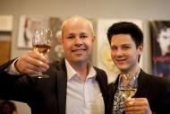 po premiéře komedie Peklo v hotelu Westminster v březnu 2014, vpravo D. Macháček - foto Marek Malůšek