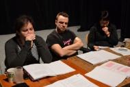 Jedna z posledních čtených zkoušek - Irena Vacková, Tomáš Šulaj, Iva Šulajová - foto Michael Lapčík