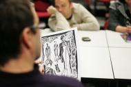 Višňový sad, zahajovací zkouška - herci se seznamují i s návrhy kostýmů - foto Filip Fojtík