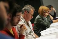 Višňový sad, zahajovací zkouška - první soustředěné čtení, zleva David Janošek, Pavel Majkus, Alžběta Kynclová - foto Filip Fojtík