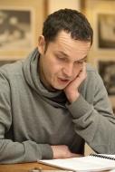 na zahajovací zkoušce komedie Bez roucha v prosinci 2015 - foto Marek Malůšek