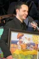 Vítězství v anketě Největší z pierotů 2013, leden 2014 - foto Věra Káčerová