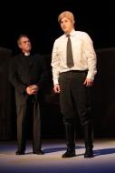 jako Mladý Franz Frost v inscenaci Denní dům, noční dům, vlevo Pavel Majkus (Farář) - foto Jan Karásek