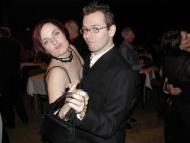 s Annou Pospíchalovou na jednom z divadelních plesů
