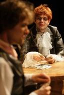 jako Utěšitel v komedii Hráči, vpopředí Jan Horák (Glov mladší) - foto Jan Karásek