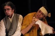 jako Smerďakov v inscenaci Bratři Karamazovi, vlevo Zdeněk Trčálek (Ivan) - foto Jan Karásek