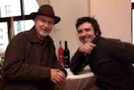 s režisérem Radovanem Lipusem na křtu vín Slováckého divadla ve vinotéce Hruška, říjen 2011 - foto Jan Karásek