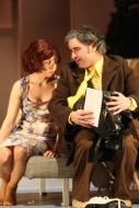 jako Advokát Krogstad v dramatu Nora, vlevo Tereza Novotná (Nora) - foto Jan Karásek