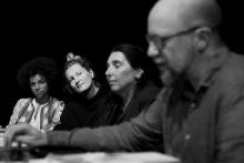 Choreografka Linda Fernandez Saez, výtvarnice Eva Jiřikovská, dramaturgyně Iva Šulajová a režisér Dodo Gombár