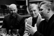 Ředitel Slováckého divadla Michal Zetel; herci Pavel Hromádka a David Vaculík