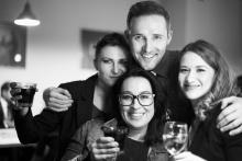 Herci Pavlína Hejcmanová, Jitka Hlaváčová, David Vacke a Tereza Hrabalová