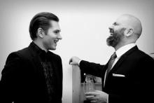 Michal Zetel s Martinem Hudcem, premiéra inscenace Marvinův pokoj